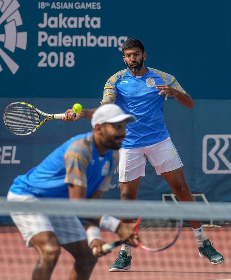 Rohan Bopanna and Divij Saran win Gold in Men's Doubles Tennis finals