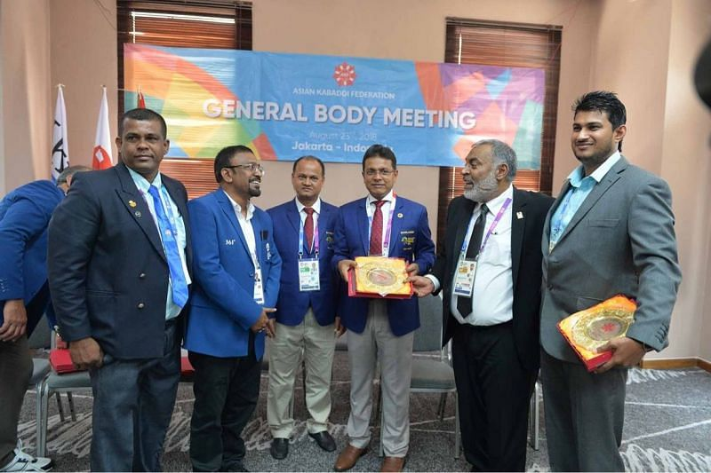 The meeting took place during the Kabaddi event of Asiad 2018.