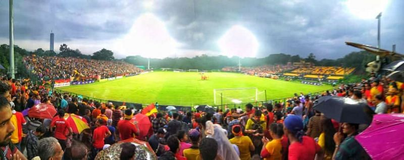 East Bengal was tied 1-1 with Tollygunge Agragami after the first half when the match was called off.