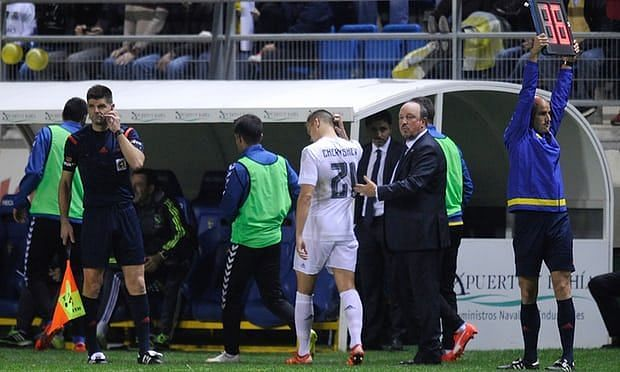Denis Cheryshev should have been suspended after he received three yellow cards in the competition for Villarreal last season. Photograph: Denis Doyle/Getty Images