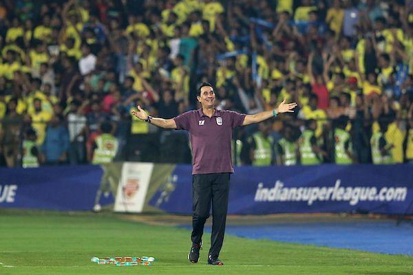 Alexandre Guimaraes during the match between Mumbai City FC and Kerala Blasters in the previous season