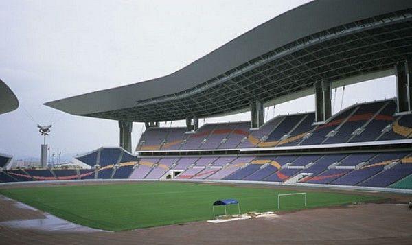 Interior view of the stadium