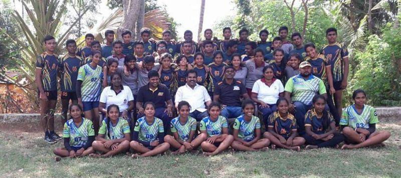The training camp for Kabaddi team in Sri Lanka coached by Udaya Kumar.