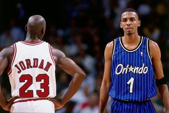 Penny Hardaway with MJ in the 1995 Eastern Conference Semi-Finals