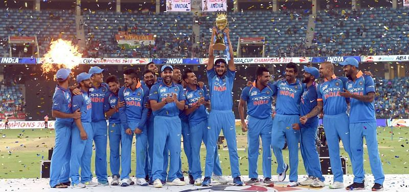 *Team India in celebration mode after their 7th Asia Cup Title