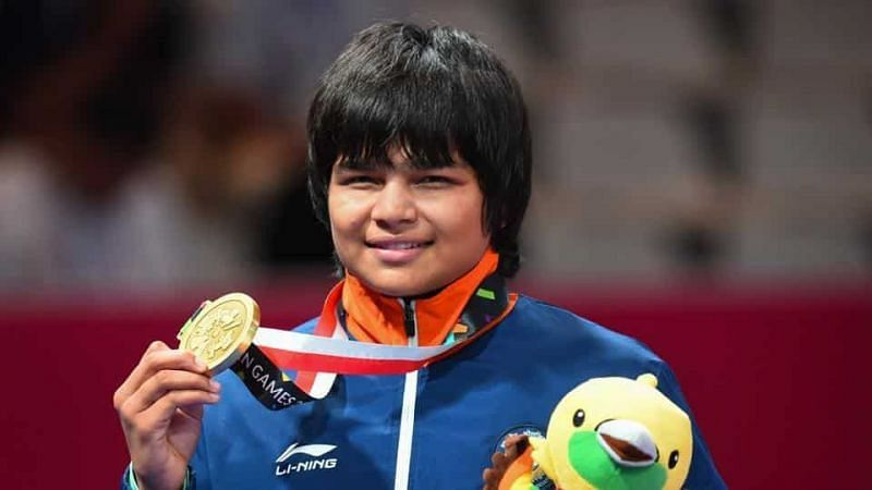 Divya Kakran wins the bronze medal in wrestling at the Asian Games