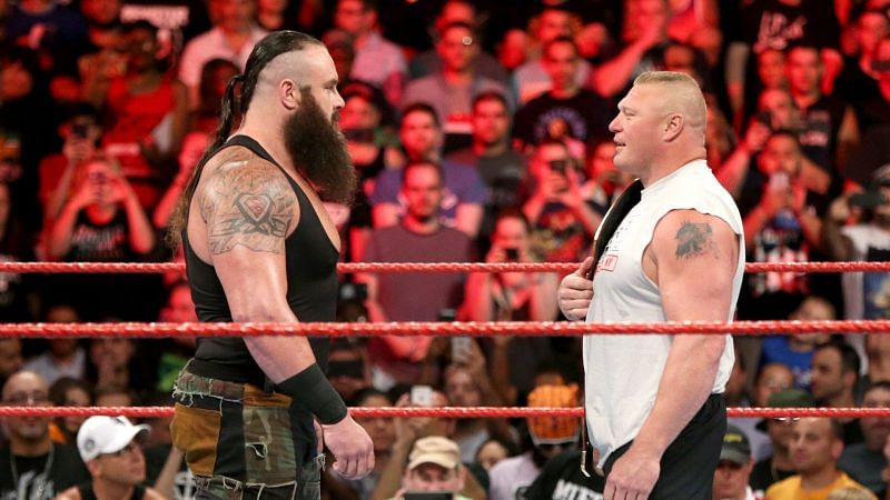 Strowman and Lesnar