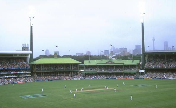 A general view of action from the second test match between Australia and South Africa at the Sydney