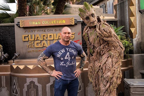 Dave Bautista Visits Disney California Adventure