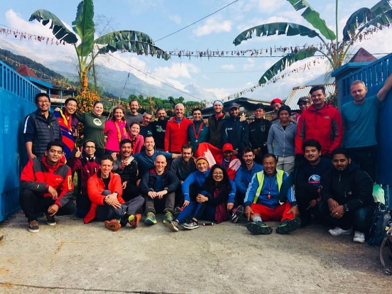 Annapurna 100 Ultra Trail Race Team and Runners 2017.