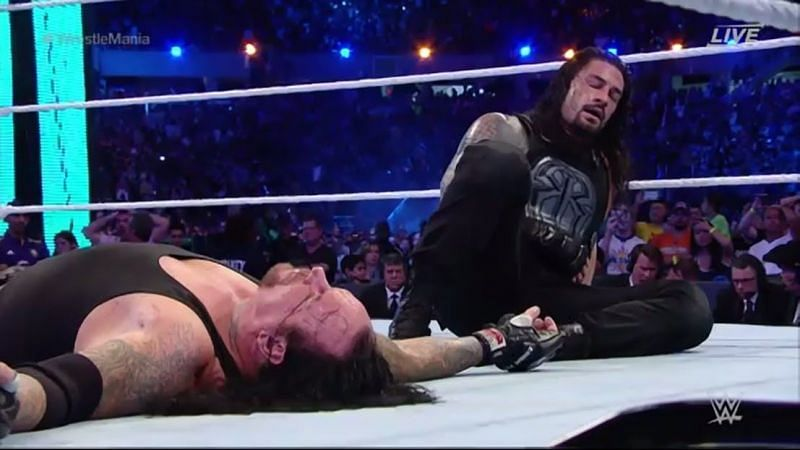 The Undertaker lost a match at WrestleMania against Roman Reigns