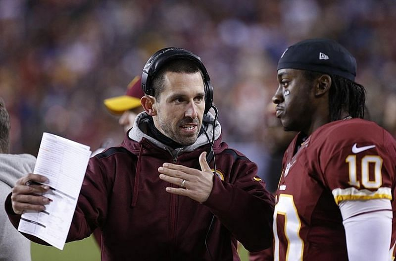 Image result for RG3 and kyle shanahan