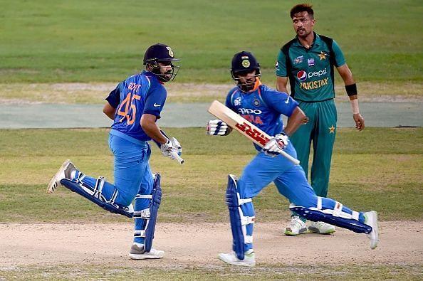 शिखर धवन और रोहित शर्मा ने 201 रनों की साझेदारी की