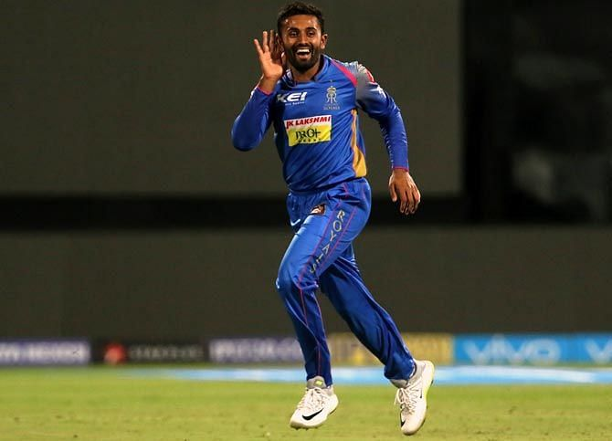 Shreyas Gopal was on fire against RCB at Sawai Mansingh Stadium last season
