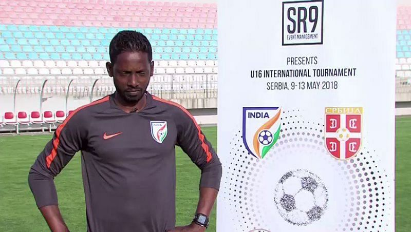 Bibiano Fernandes, the Indian coach
