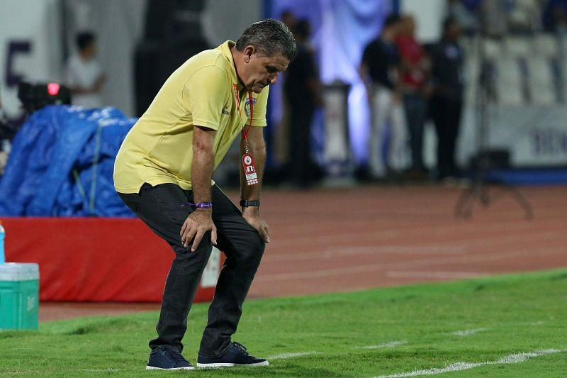 Chennaiyin coach John Gregory had a bad day at the office (Credit: ISL)