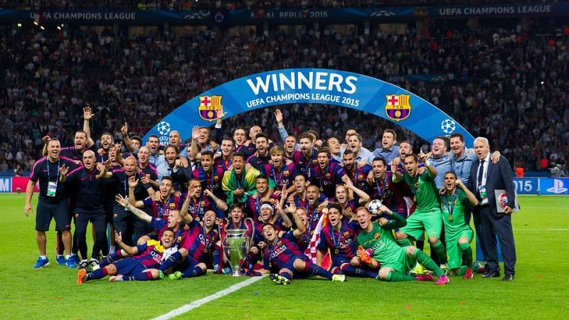 Image result for barcelona 2014/15 champions league winners