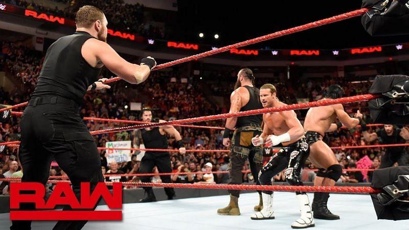 Monday Night Raw opened with a brawl!