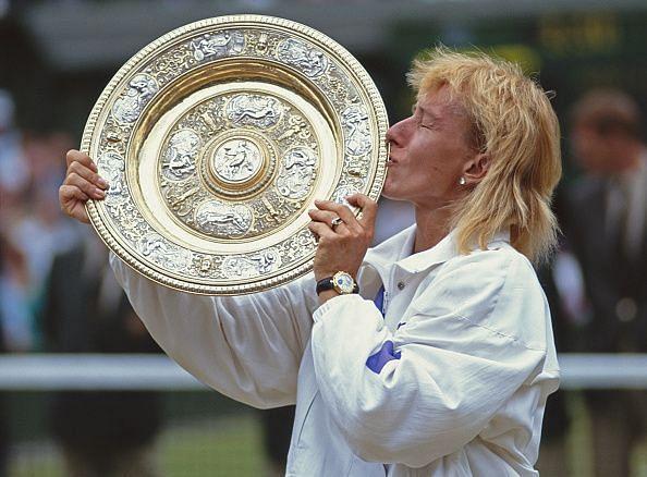 Navratilova after winning the Wimbledon Lawn Tennis Championship