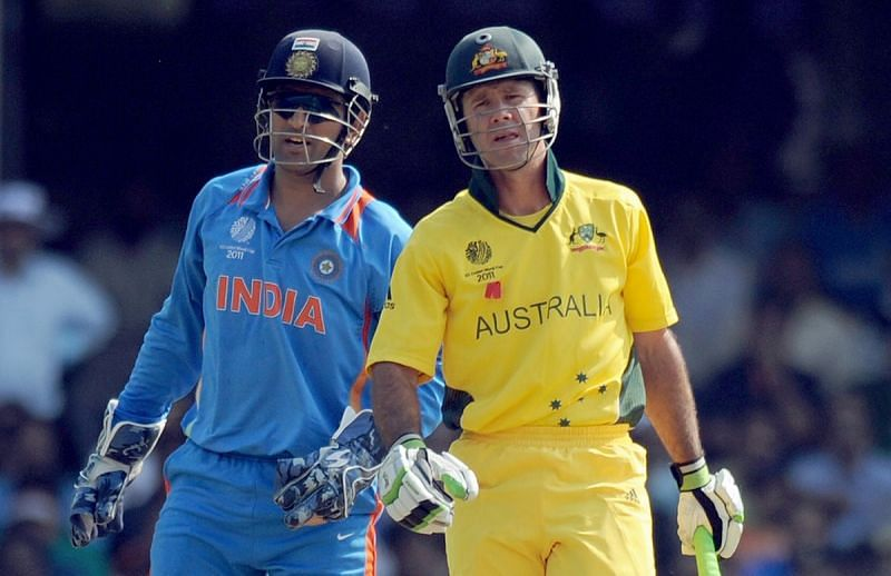Image result for ponting and dhoni