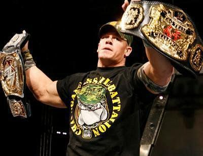 Cena once held the Tag Titles with HBK