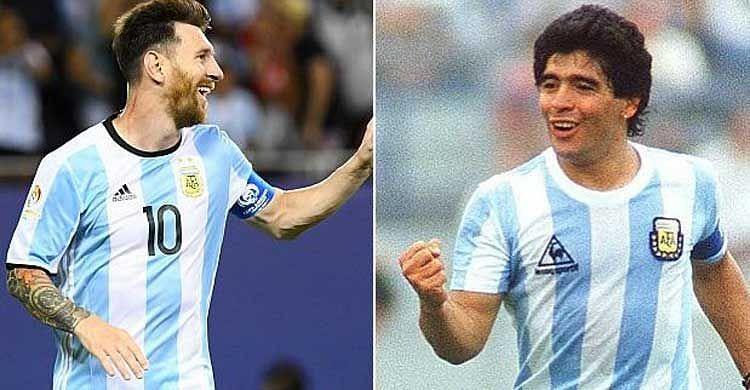 Lionel Messi is often compared to Diego Maradona.