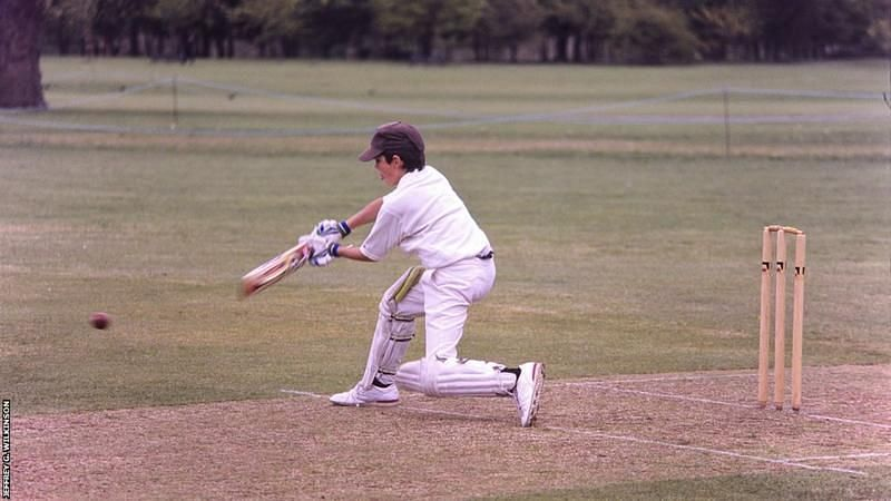Aged eight, Cook made 110 out of a total of 127 for St Paul