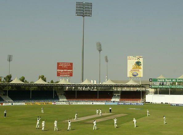 Glenn McGrath takes a wicket