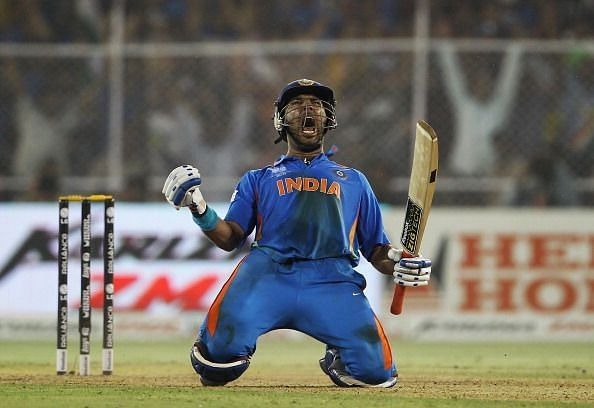 Yuvraj hit 6 sixes in an over on his way to the fastest half-century