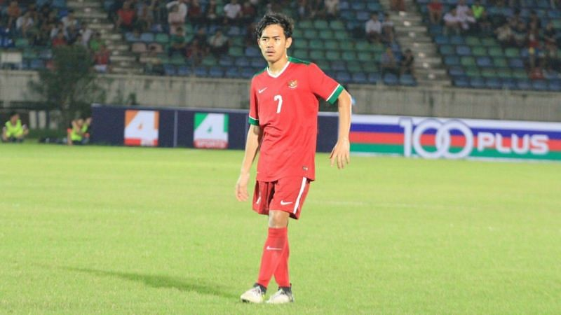 Muhammad Luthfi Kamal Baharsyah spectacular free-kick earned the first goal for Indonesia (Image Courtesy: Goal.com)