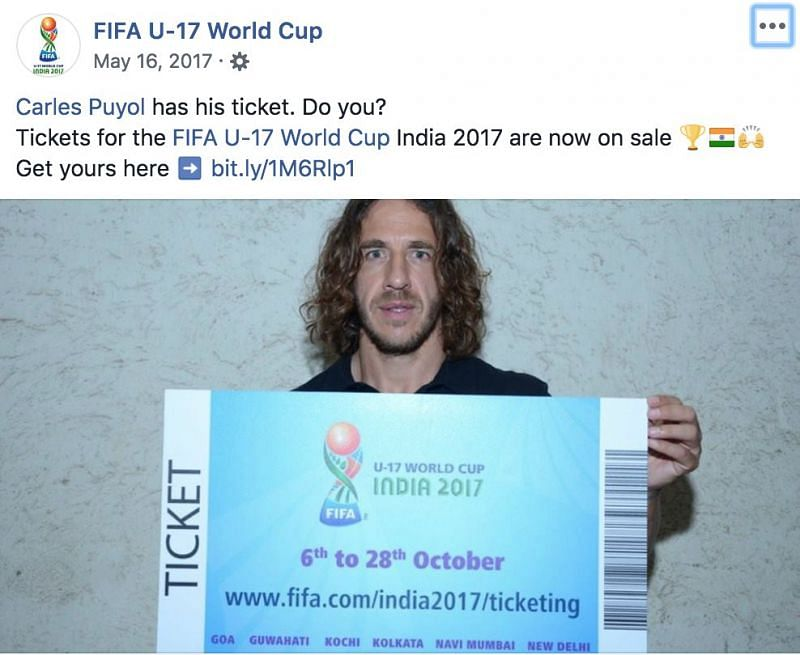 FIFA World Cup Winner Carles Puyol launching ticket sales
