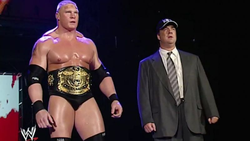 Brock Lesnar and Paul Heyman moved to Smackdown in 2002