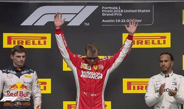 Raikkonen after the US Grand Prix victory