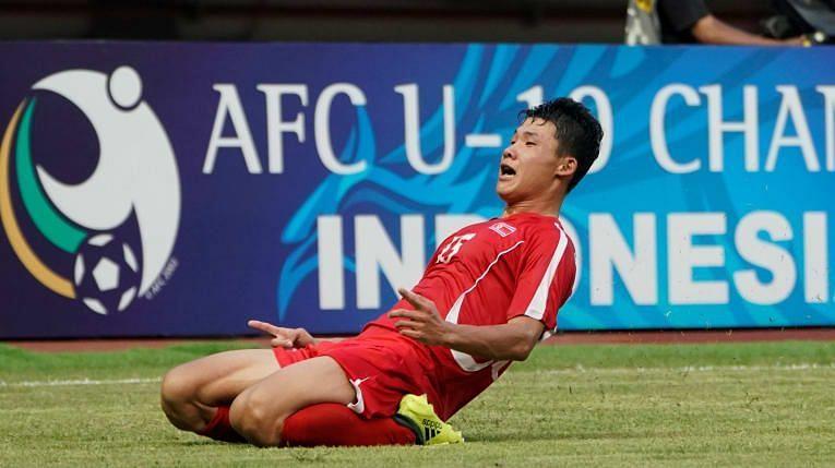 Kang Kuk-Chol II scored the only goal for North Korea (Image Courtesy: AFC)