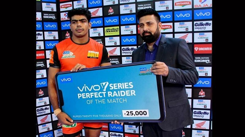 Pawan Kumar won the Perfect Raider of the Match for his 16-point performance.