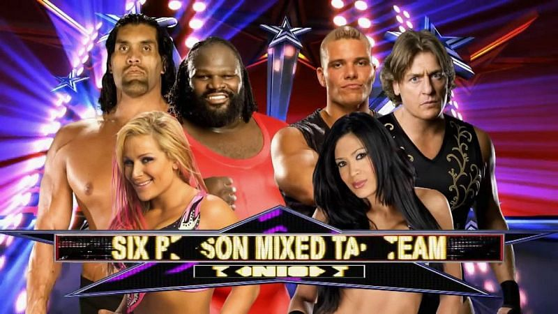 Natalya, The Great Khali, and Mark Henry overcame Melina, Tyson Kidd, and William Regal in 2011