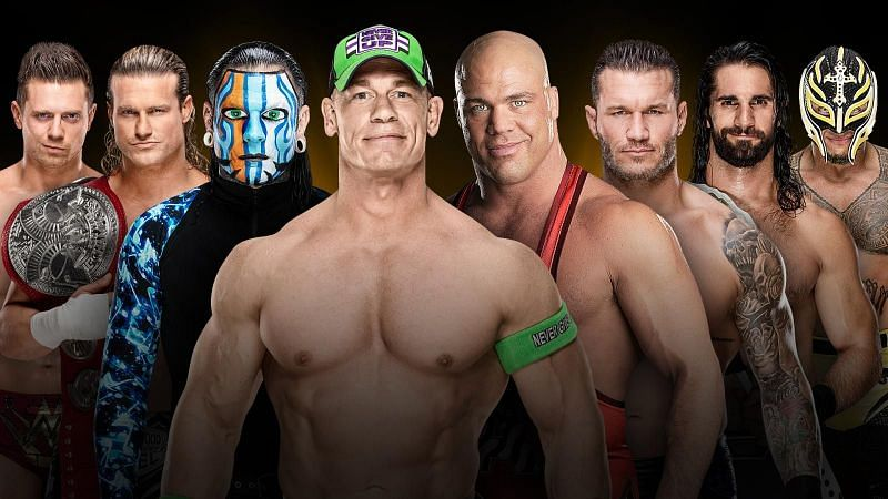 The 8 participants of the first ever WWE World Cup