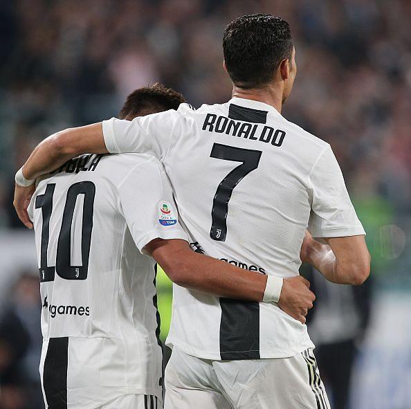 Dybala with Ronaldo