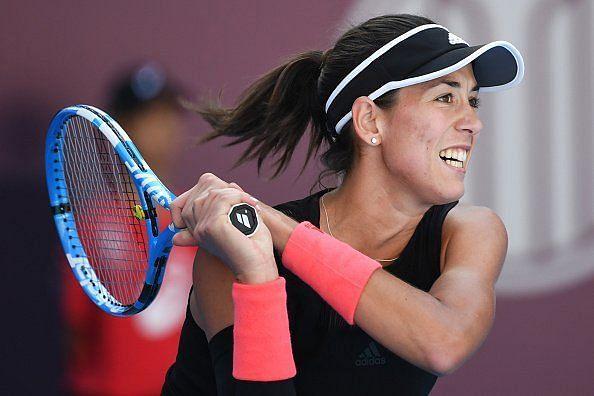 Garbine Muguruza played her serve on lock to defeat Stefanie Voegele at the WTA Luxembourg Open