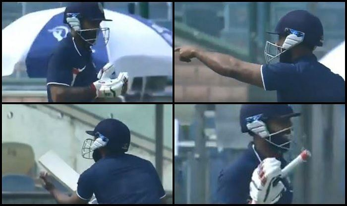 Ankeet Bawne came out to bat with only one glove during Deodhar Trophy 2018-19.