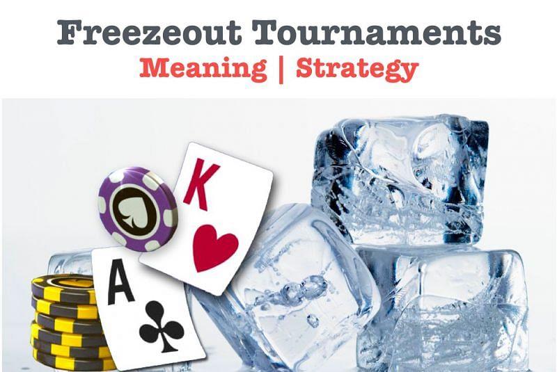 Freezeout poker tournaments