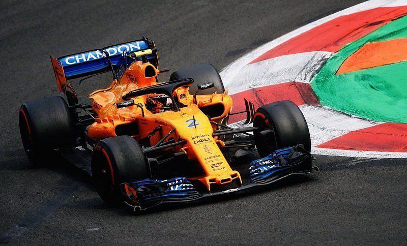 Stoffel Vandoorne in his McLaren