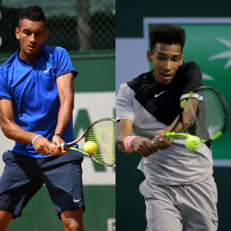 The backhands of both Nick Kyrgios (left) and Felix Auger-Aliassime (Sources of both: Zimbio)