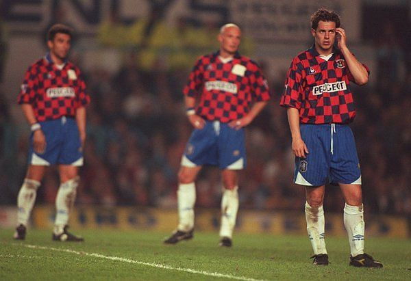 Chelsea players in the Coventry kit