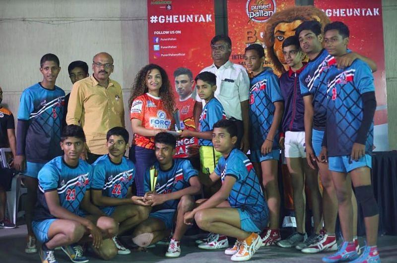 V.S.Satav High School winners in Boys category of Puneri Paltan Bol Kabaddi Inter-school tournament
