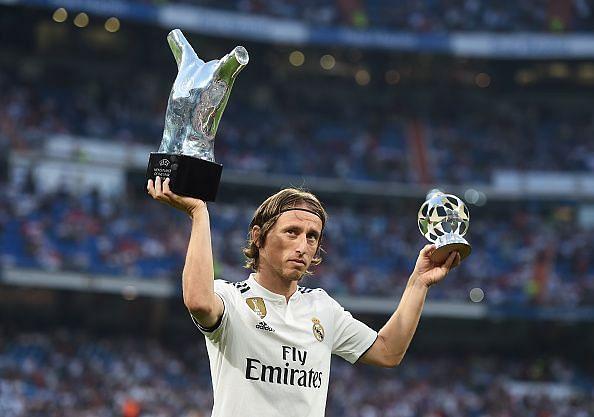 Luka Modric was named the Best FIFA Men