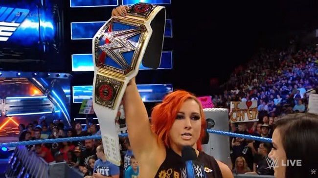 Becky Lynch defends against Charlotte on Tuesday night