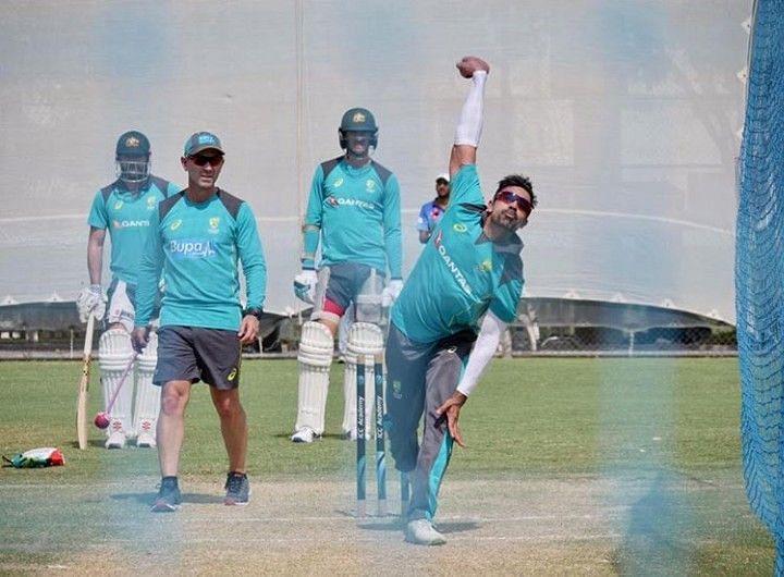 Sahu during a training session in UAE. Photo credit: Instagram (Sahu)