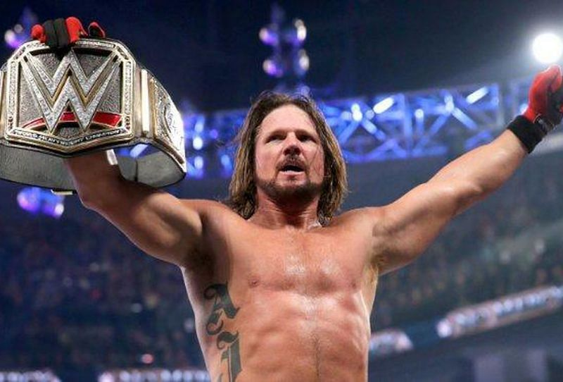 Current champion, A.J. Styles.