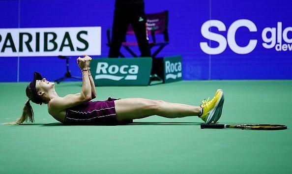 Svitolina celebrates her win